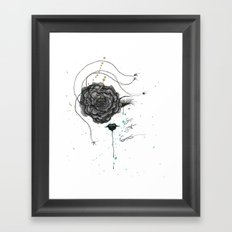 And So It Went Framed Art Print