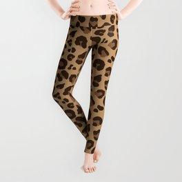 Leopard Print - Tan and Brown Leggings