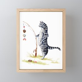 Gone Fish'en Framed Mini Art Print