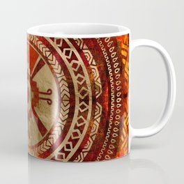 Hunab Ku Mayan symbol Burnt Orange and Gold Coffee Mug