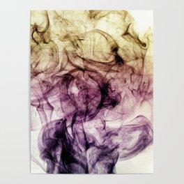 Beautiful Purple Brown Smoky Dust Poster