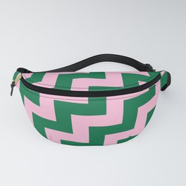 Cotton Candy Pink and Cadmium Green Steps RTL Fanny Pack
