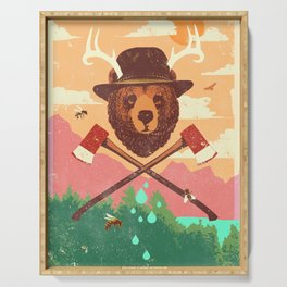 FOREST BEAR Serving Tray