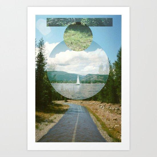 Wet Road Art Print