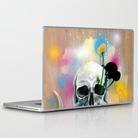 skull Laptop & iPad Skins featuring Skull Roots by FAMOUS WHEN DEAD