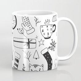minimal chistmas pattern Coffee Mug