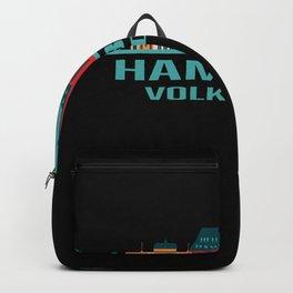 Hamburg Volksdorf Germany Skyline Backpack