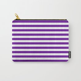 Halloween Two color stripes Violet and White Carry-All Pouch