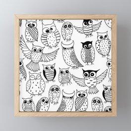 Funny owls Framed Mini Art Print