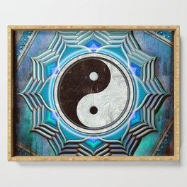 Yin Yang - Healing Of The Blue Chakra Serving Tray