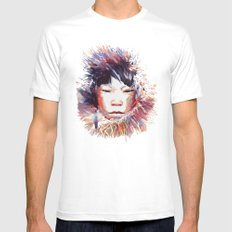 MONGOLIA White MEDIUM Mens Fitted Tee