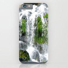 Waterfall over green rocks Slim Case iPhone 6s
