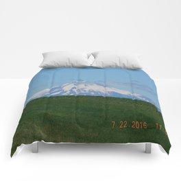 road trip, mountain, mnt hood, mt hood, oregon, meadow Comforters
