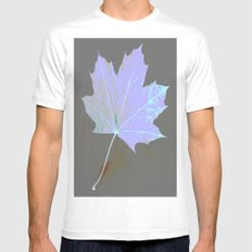 Canadian Maple Leaf MEDIUM White Mens Fitted Tee