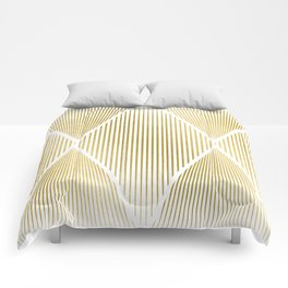 Folded Gold Comforters