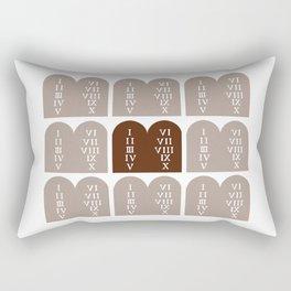 Ten Commandments Rectangular Pillow