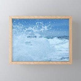 Exploding Surf Framed Mini Art Print
