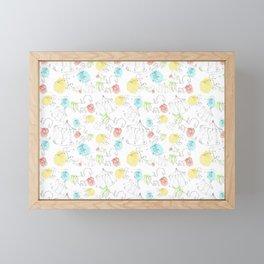 estampado carrusel Framed Mini Art Print
