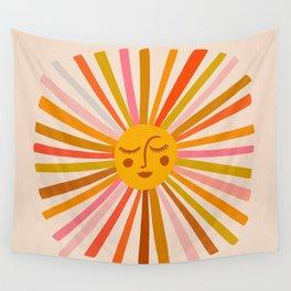 Sunshine – Retro Ochre Palette Wall Tapestry