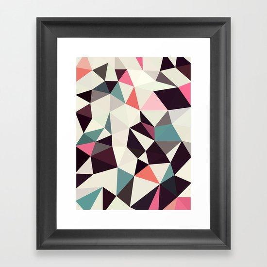 Retro Tris Light Framed Art Print