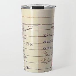 Library Card 23322 Travel Mug