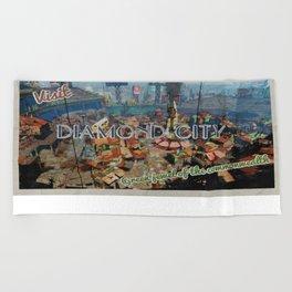 "Vintage Travel Diamond City ""postcard"" Beach Towel"
