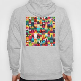 Abstract Geometric Mountains Hoody