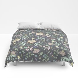 Country Flowers - French Grey Comforters