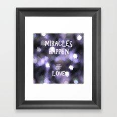 Miracles Framed Art Print