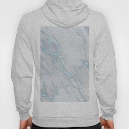 Marble Love Sea Blue Metallic Hoody