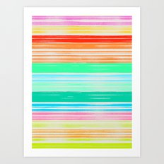 Waves_Multicolor2 Art Print