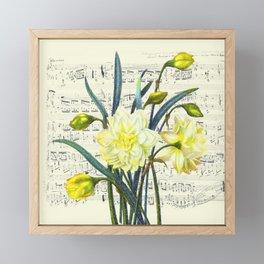 Daffodil Spring Song Framed Mini Art Print