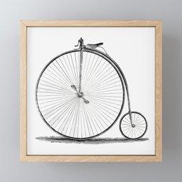 Penny-farthing. Framed Mini Art Print