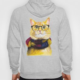 Bob the cat with glasses Hoody