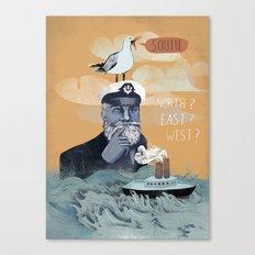 The Captains Lost Again  Canvas Print