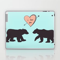 Polar Bear Love Laptop & iPad Skin