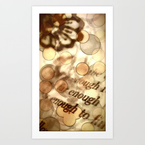 Enough Art Print