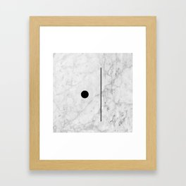 Marble Fun Framed Art Print