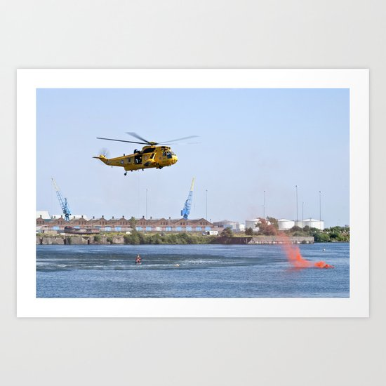 RAF Sea King Search & Rescue Helicopter 4 Art Print