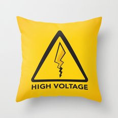 High Voltage Throw Pillow
