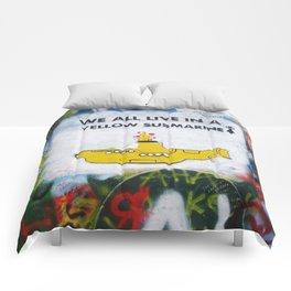 Yellow Submarine Graffiti Comforters