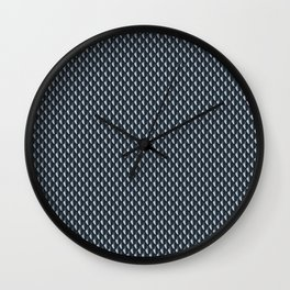 Dragon Scales Pattern - Silver Black Wall Clock