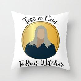 Toss A Coin Throw Pillow