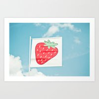 Strawberry Sky Art Print