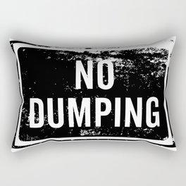 No Dumping sign Rectangular Pillow