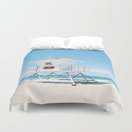 Lifeguard tower Carlsbad 35 Duvet Cover