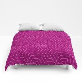 Flirt - violet - Modern Vector Seamless Pattern Comforters