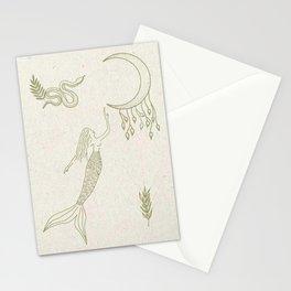 Mermaid Print Stationery Cards