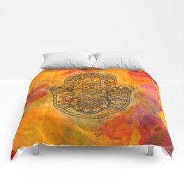Sunrise Hamsa Comforters