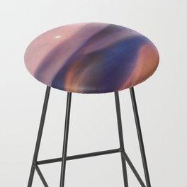 Minimal abstract landscape II Bar Stool